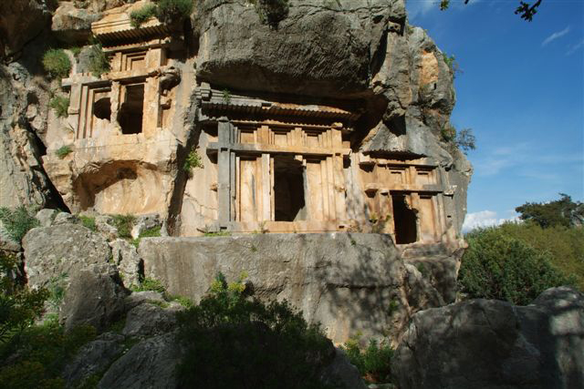 Pinara ancient rock tombs