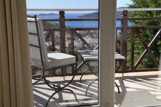 Sea views to the islands from master bedroom and private balcony