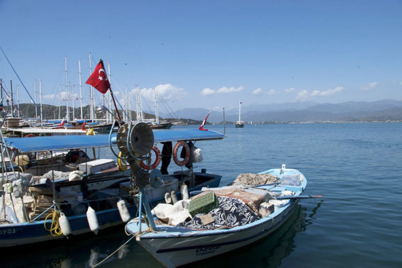 Fishing boats in Fethiye harbour