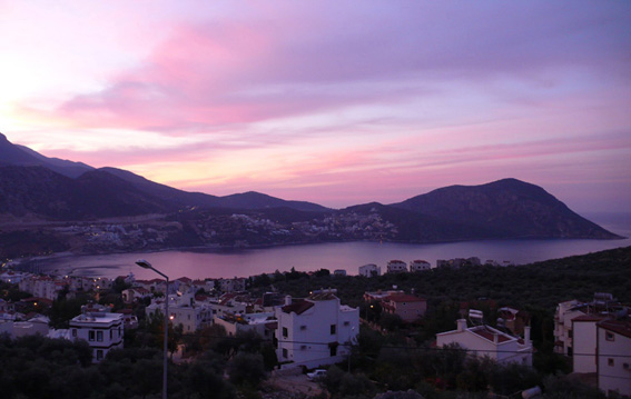 Sunrise from bedroom over the beautiful Turquoise Coast of Turkey
