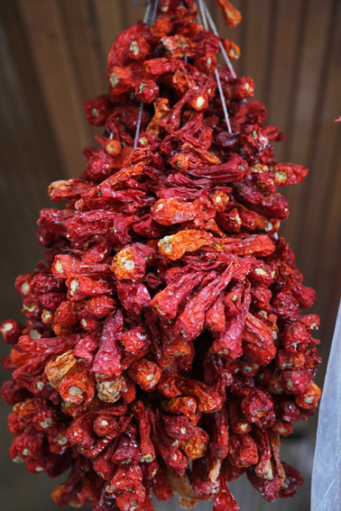 Dried peppers in Konyar