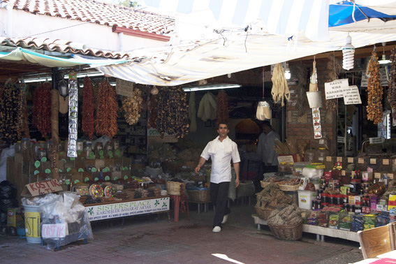 Local produce at stall in Fish Markets, Fethiye