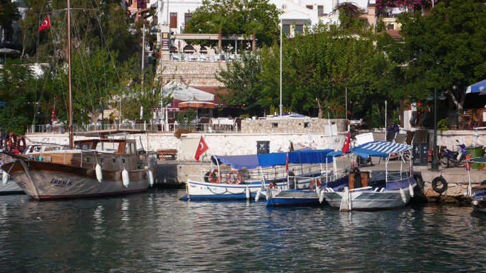 Kalkan harbour and local gulets