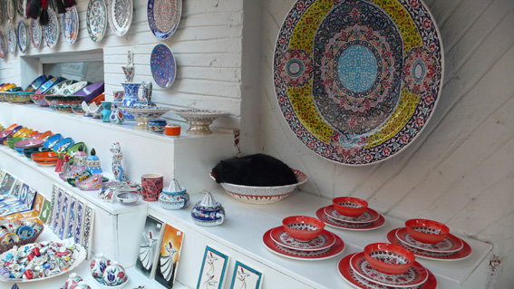 Beautiful locally-produced ceramics sold in Kalkan