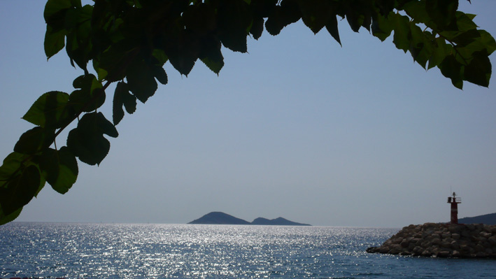 View of Mouse and Snake islands from Kalkan beach