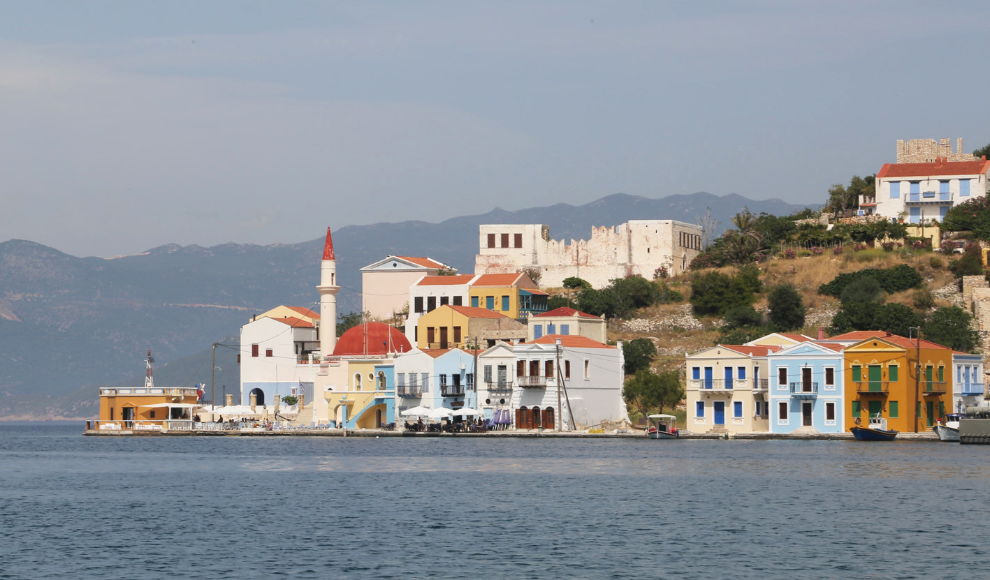 Meis harbour, tiny Greek island off Kas