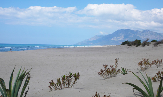 Stunning scenery along the 12 kms of sandy coastline of Patara beach