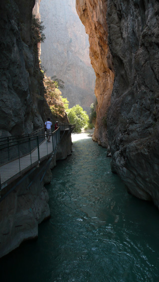 Saklikent Gorge water and walkway above