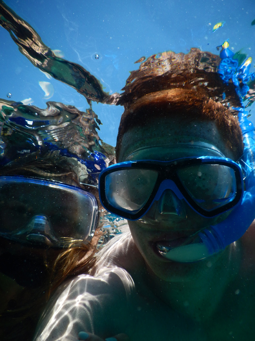 Couple snorkelling in Kalkan sea