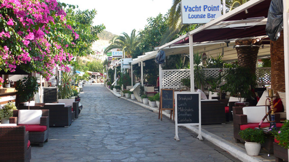 Kalkan has a lovely upmarket feel with restaurants lining the harbour walk