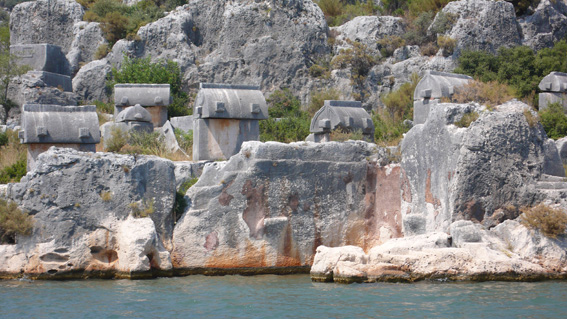 Stone tombs at Kekova