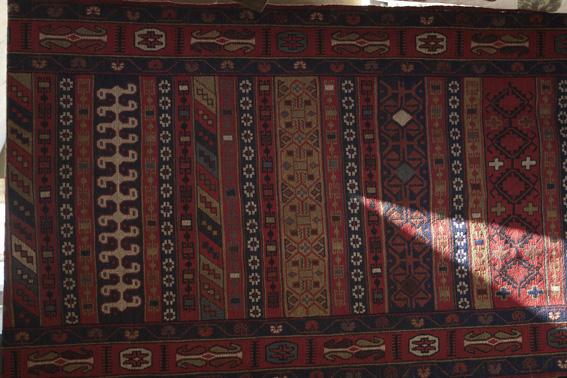 Beautifully rich colours of a traditional Turkish rug