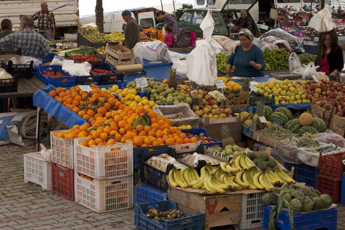 Abundance of fruit and vegetables at the Kalkan markets
